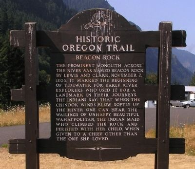 Beacon Rock Marker image. Click for full size.