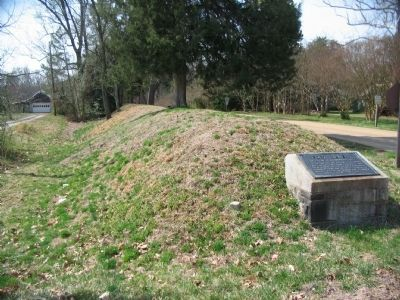 Fort Gilmer Marker and a Portion of the Earthworks Photo, Click for full size