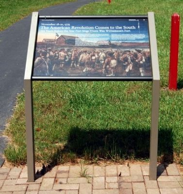 The American Revolution Comes to the South Marker image. Click for full size.