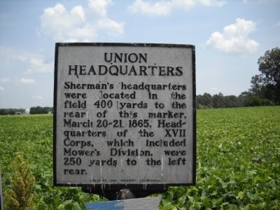 Union Headquarters Marker image. Click for full size.