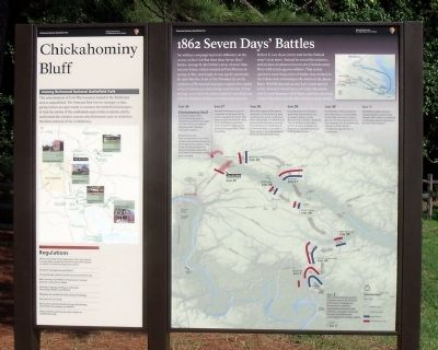 Chickahominy Bluff Marker Photo, Click for full size
