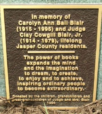 Blair Memorial Marker image. Click for full size.