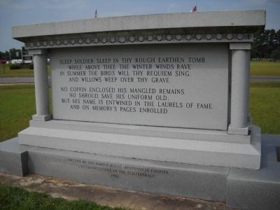 Rear of North Carolina Monument Photo, Click for full size