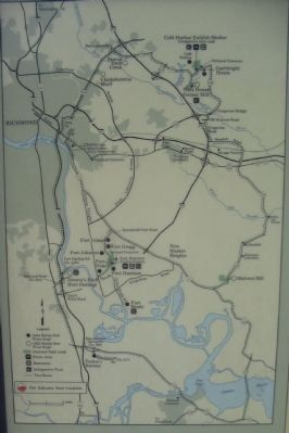 Richmond Battlefields Map image. Click for full size.