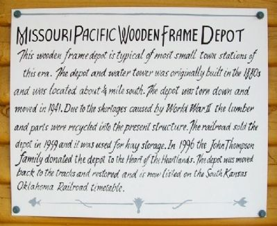 Missouri Pacific Wooden Frame Depot Marker image. Click for full size.