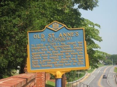 Old St. Anne's Marker image. Click for full size.