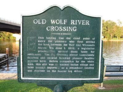 Old Wolf River Crossing Marker image. Click for full size.