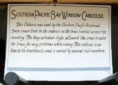 Southern Pacific Bay Window Caboose Marker image. Click for full size.