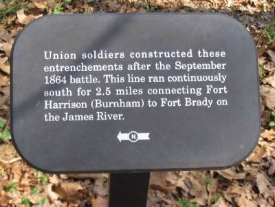 Union Entrenchments Marker image. Click for full size.