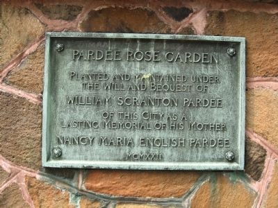 Pardee Rose Garden Marker Photo, Click for full size