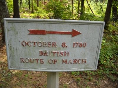 British Route of March Marker image. Click for full size.