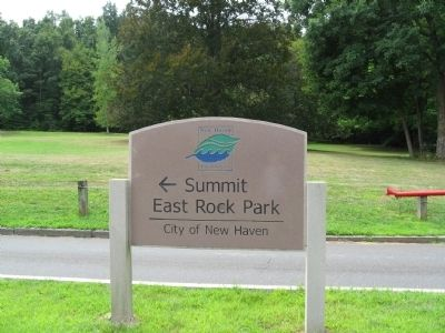 Entrance to East Rock Park Photo, Click for full size
