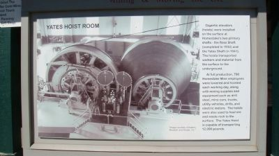 Nearby Related Marker: Yates Hoist Room image. Click for full size.