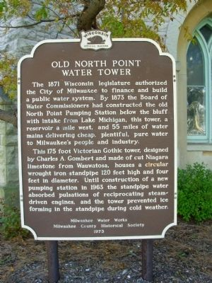 Old North Point Water Tower Marker Photo, Click for full size