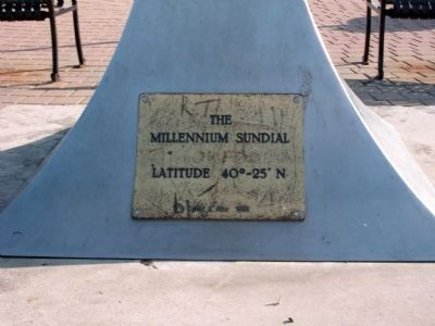 "Base of "" Millennium Sundial "" image. Click for full size."