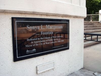 "Dedication Plaque - - "" Sonya L. Margerum - Fountain "" image. Click for full size."