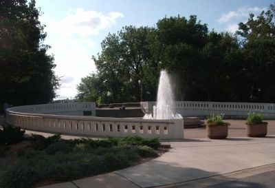 "Full View - - "" Sonya L. Marerum - Fountain "" - West Lafayette, Indiana image. Click for full size."