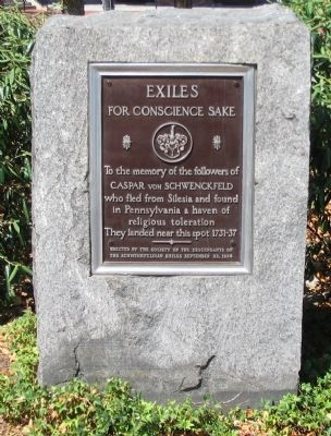 Exiles for Conscience Sake Marker image. Click for full size.