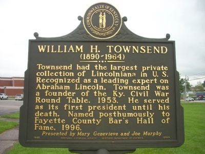 William H. Townsend Marker - Side 2 image. Click for full size.