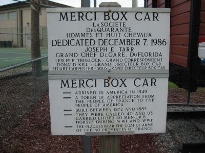 Merci Box Car Marker image. Click for full size.