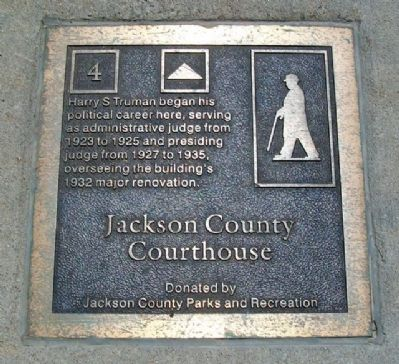 Jackson County Courthouse Marker image. Click for full size.
