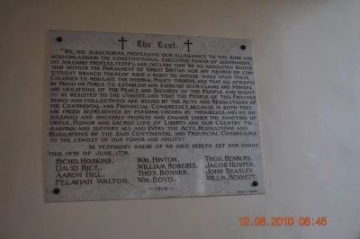 "Plaque inside ST Paul's Episcopal Church ""The Crest"" Photo, Click for full size"