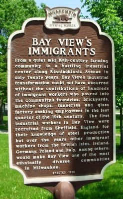 Bay View's Immigrants Marker image. Click for full size.