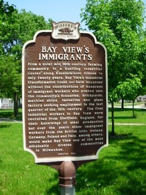 Bay View�s Immigrants Marker image. Click for full size.