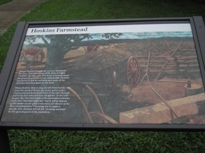 Hoskins Farmstead Marker image. Click for full size.