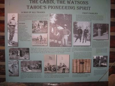 The Cabin, The Watsons - Tahoe's Pioneer Spirit image. Click for full size.