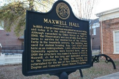 Maxwell Hall Marker Side B Photo, Click for full size