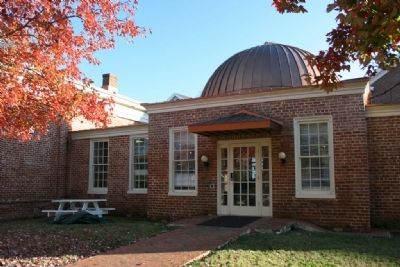 The west wing of Maxwell Hall and the eighteen-foot dome. Photo, Click for full size