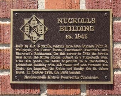 Nuckolls Building Marker image. Click for full size.