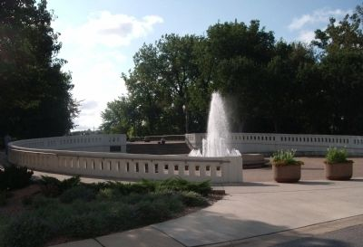 "Wide View - - ""Sonya L. Margerum Water Fountain"" in West Lafayette, Indiana image. Click for full size."