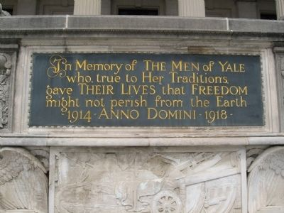 In Memory of the Men of Yale Marker image. Click for full size.