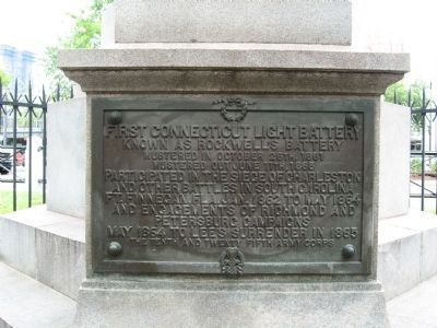 Conn. Volunteers Memorial image. Click for full size.