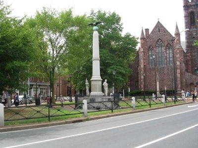 Conn. Volunteers Memorial on the Broadway Green image. Click for full size.