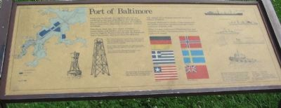 Port of Baltimore Marker image. Click for full size.