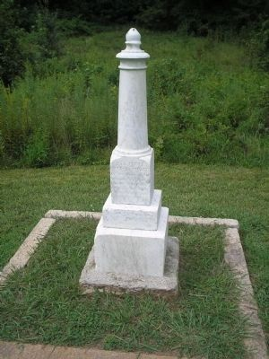 Col. Stewart Death Monument image. Click for full size.