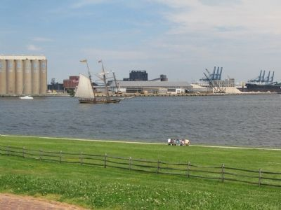 Sailing Vessel Passes Fort McHenry image. Click for full size.