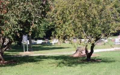 "Another View - - ""Farmers Institute Cemetery"" Sign Photo, Click for full size"