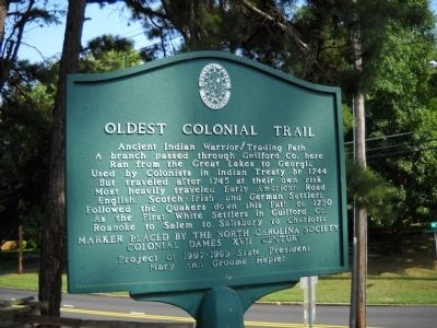 Oldest Colonial Trail Marker image. Click for full size.