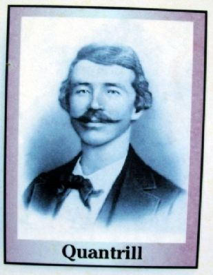 Quantrill Image on First Battle Marker image. Click for full size.