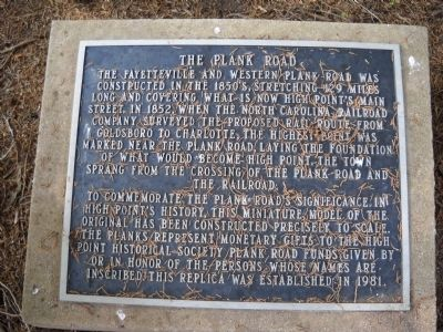 The Plank Road Marker image. Click for full size.