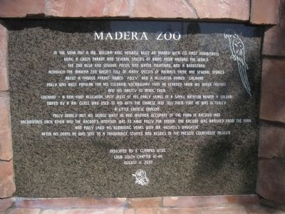 Madera Zoo Marker image. Click for full size.