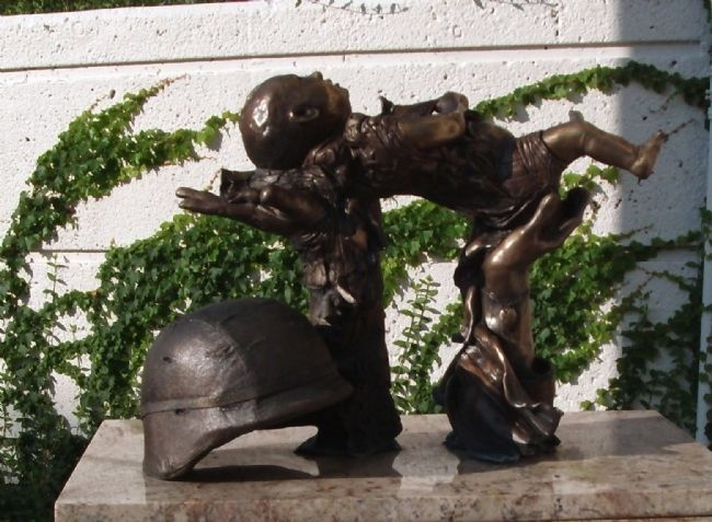 "Statue - - "" Most Precious Offering "" - by: Saundra Whiddon image. Click for full size."