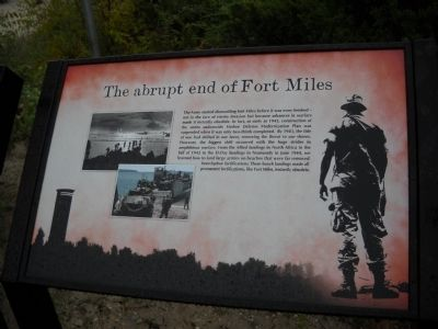 The abrupt end of Fort Miles Marker image. Click for full size.