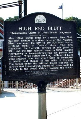 High Red Bluff Marker Photo, Click for full size