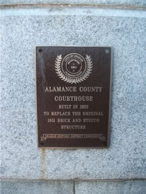 Alamance County Courthouse Marker Photo, Click for full size