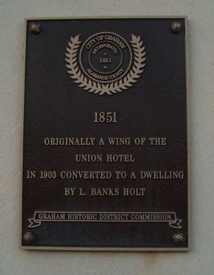 Originally a Wing of the Union Hotel Marker image. Click for full size.